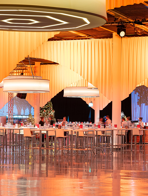 Photo: Main building Level-2 hall setting Christmas party