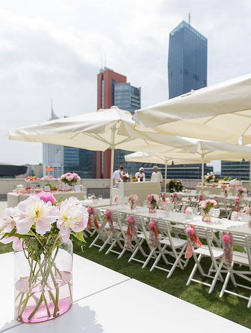 Photo: Main building Level 3 Rooftop Terrace Motto Catering seating