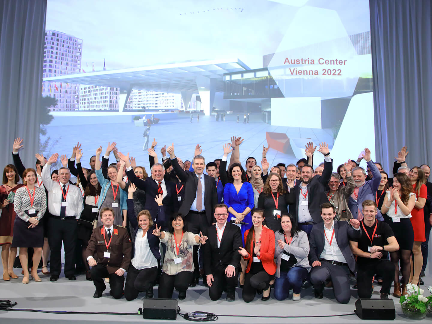 Foto: Teamfoto des Austria Center Vienna